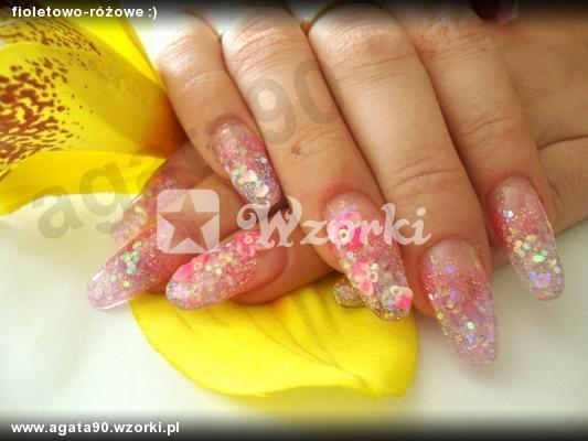 fioletowo-różowe :)
