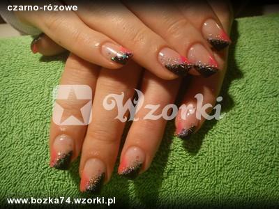 czarno-rózowe