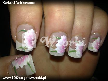 Kwiatki farbkowane
