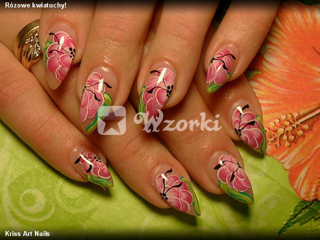 Rózowe kwiatuchy!