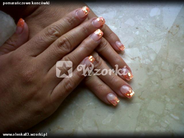 pomarańczowe koncówki