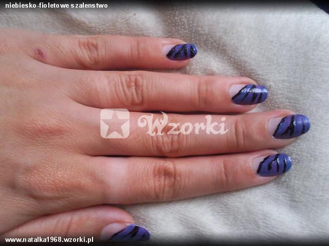 niebiesko-fioletowe szalenstwo