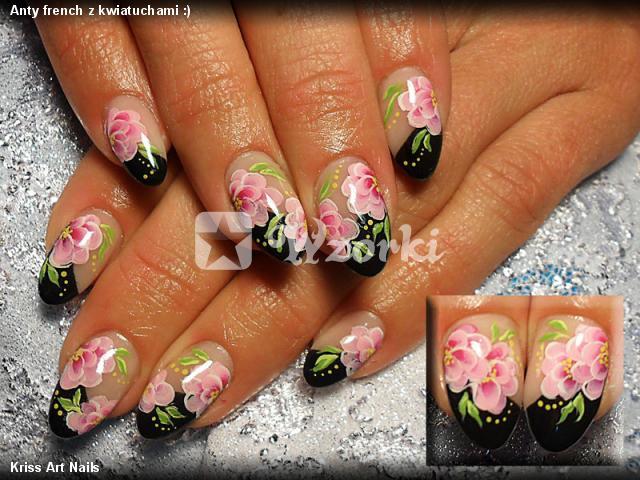 Anty french z kwiatuchami :)
