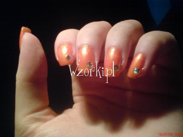 pomarańczowe paznokietki