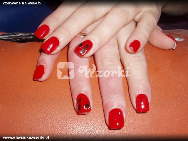 czerwone na wesoło