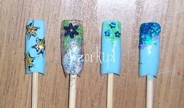 Błękitno kwiatuszkowo ;)