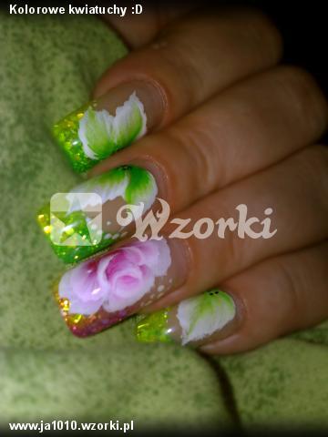 Kolorowe kwiatuchy :D