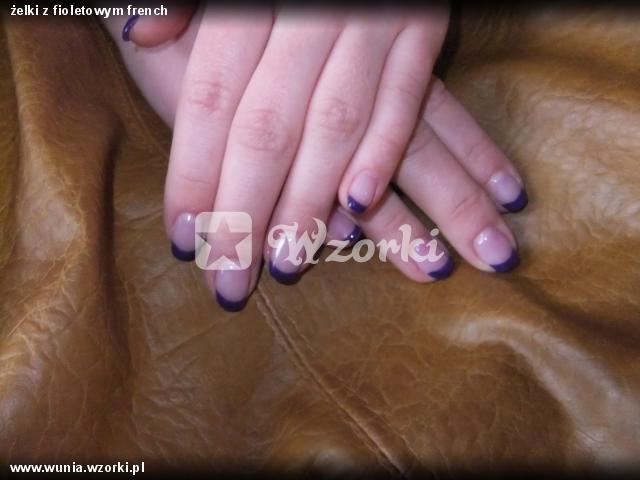 żelki z fioletowym french