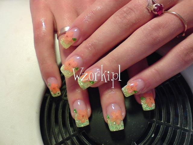 brokat suszone kwiaty