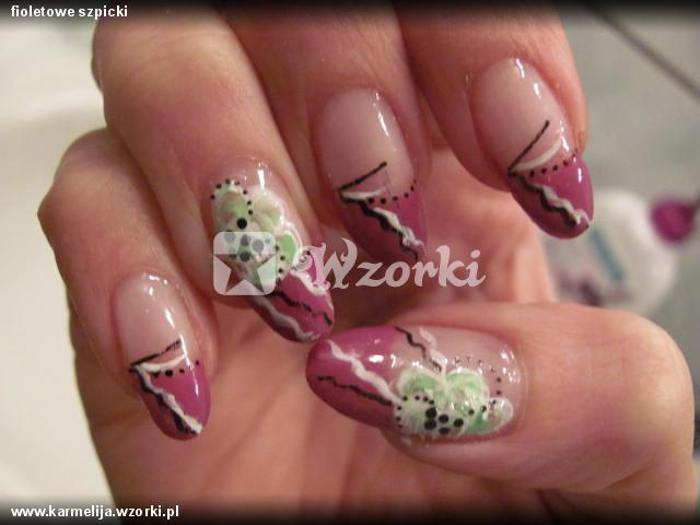 fioletowe szpicki
