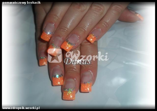 pomarańczowy brokacik
