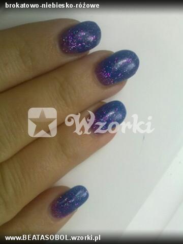brokatowo-niebiesko-różowe