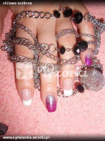 różowo srebrne