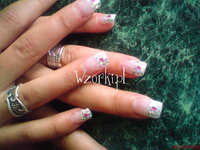 srebrno- różowe