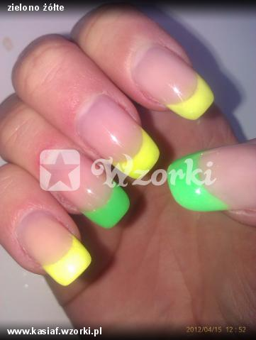zielono żółte