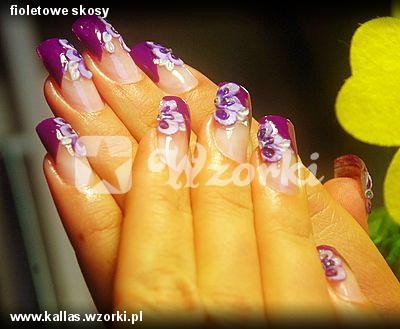 fioletowe skosy