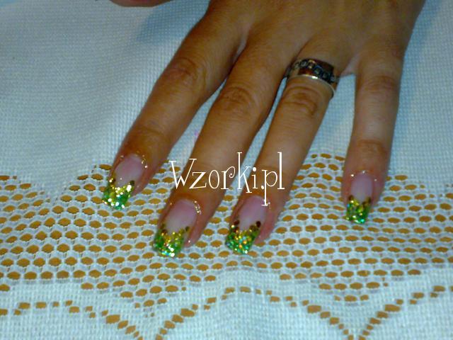 zielone piegi