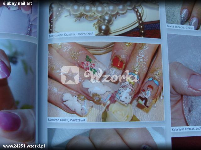 ślubny nail art