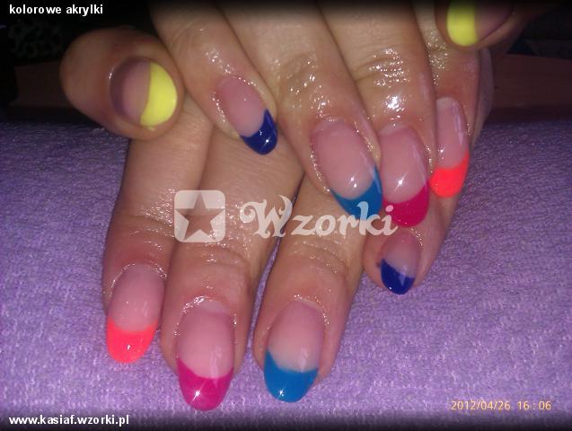 kolorowe akrylki