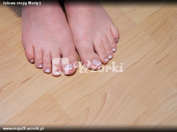 żelowe stopy Marty:)