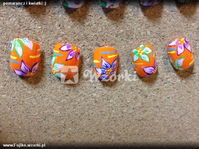 pomarancz i kwiatki :)