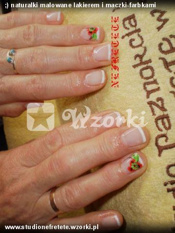 ;) naturalki malowane lakierem i maczki-farbkami