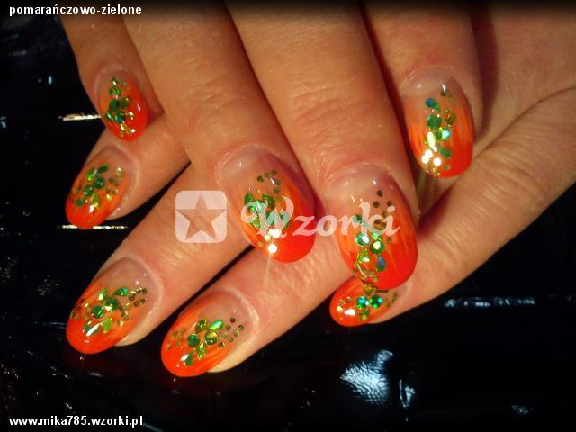 pomarańczowo-zielone