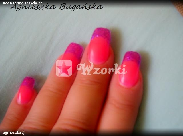 neon termo roz-violet