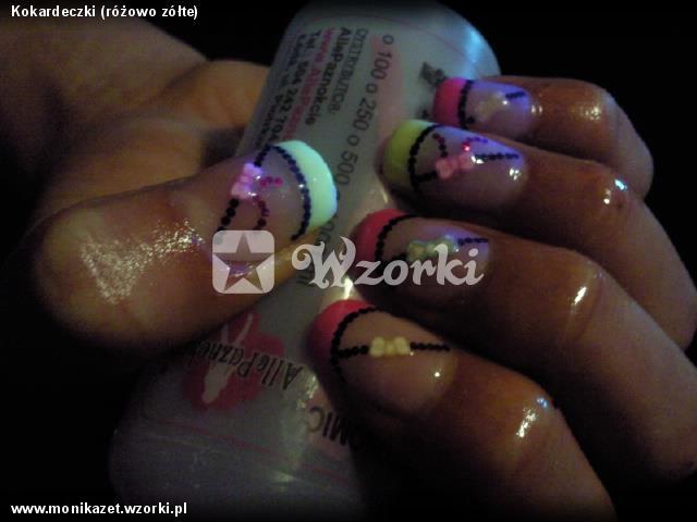 Kokardeczki (różowo zółte)