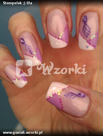 Stempelek ;) lila