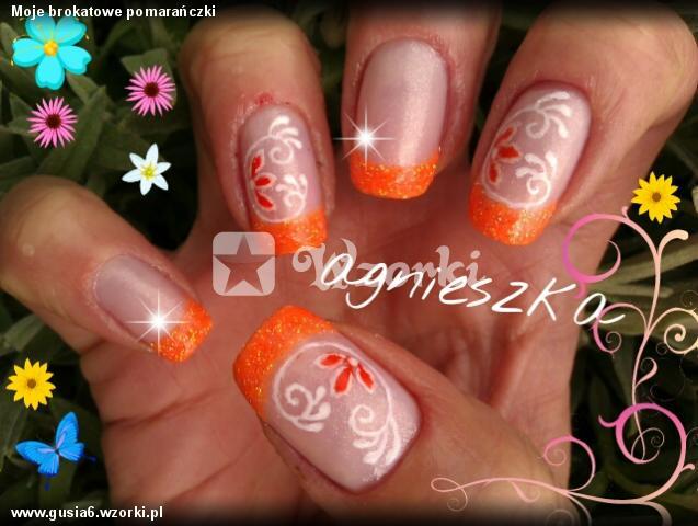 Moje brokatowe pomarańczki