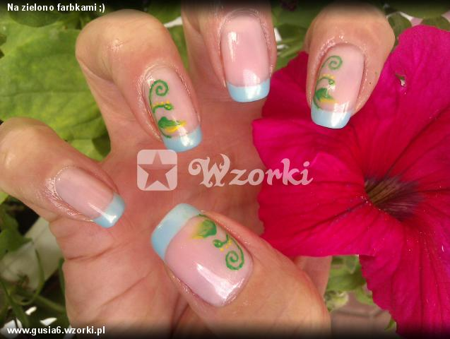 Na zielono farbkami ;)