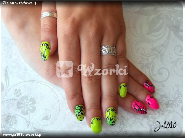 Zielono- różowe :)