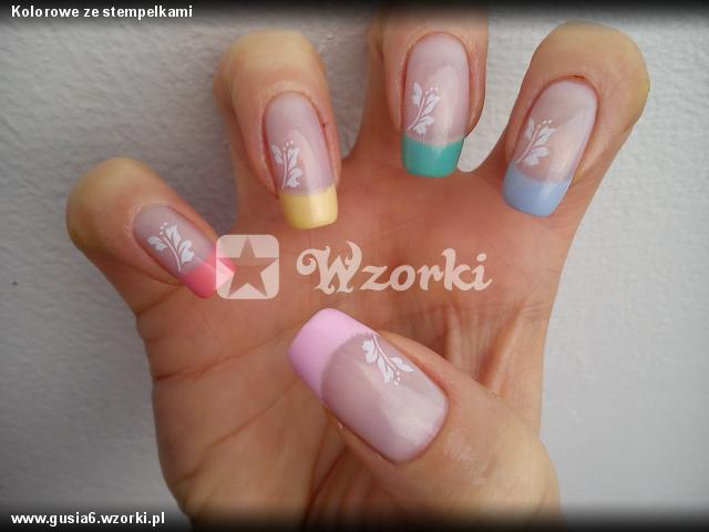 Kolorowe ze stempelkami