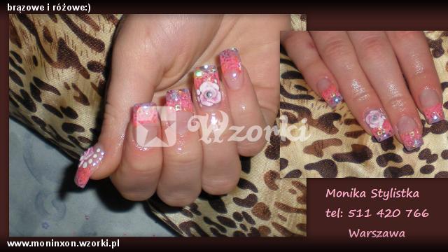 brązowe i różowe:)