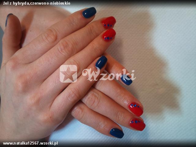 żel z hybryda,czerwono-niebieskie