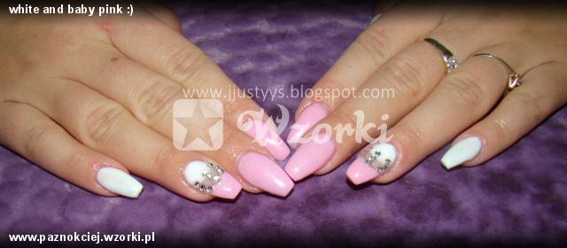 white and baby pink :)