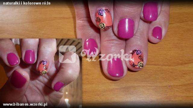 naturalki i kolorowe róże