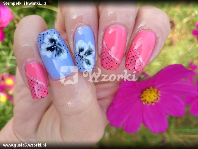 Stempelki i kwiatki...;)