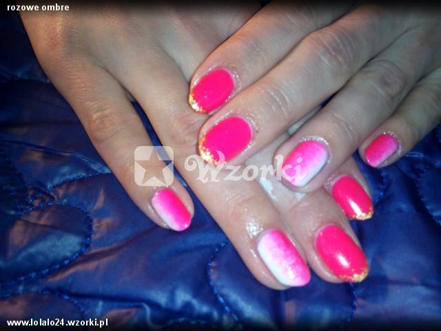 rozowe ombre