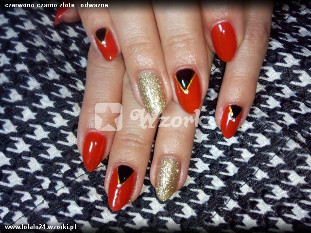 czerwono czarno złote - odwazne