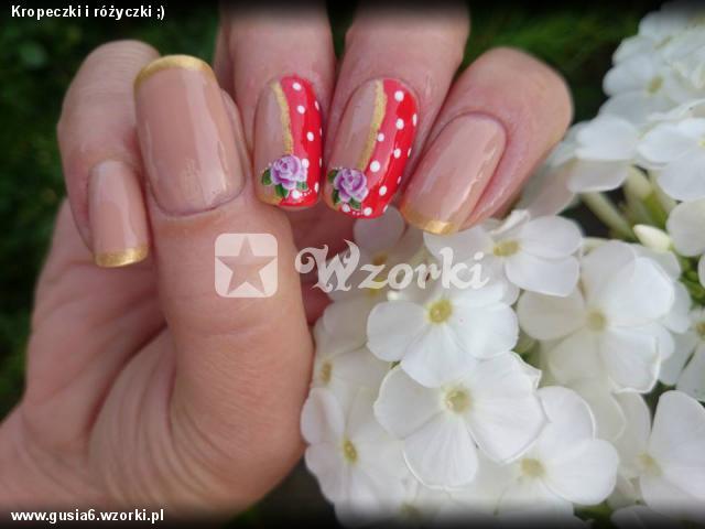 Kropeczki i różyczki ;)