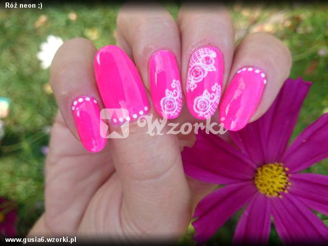 Róż neon ;)