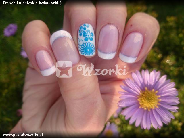 French i niebieskie kwiatuszki ;)