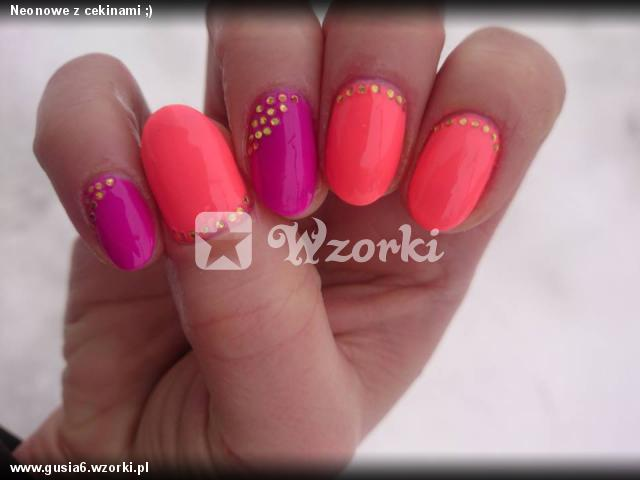 Neonowe z cekinami ;)