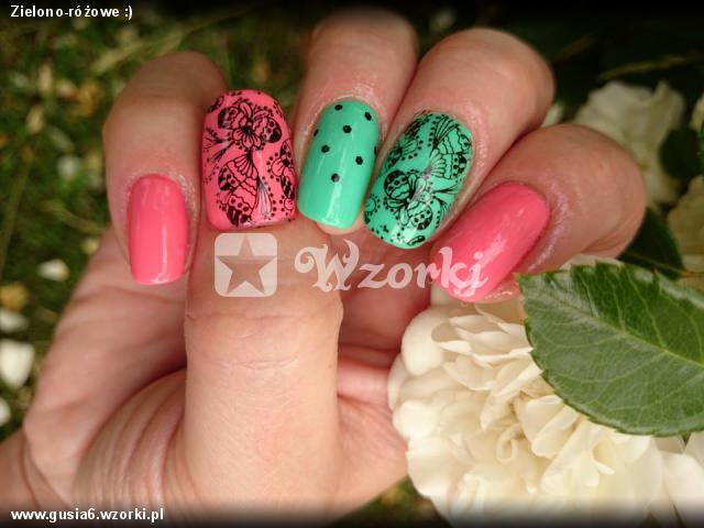 Zielono-różowe :)