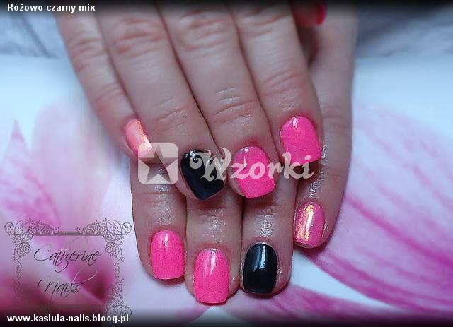 Różowo czarny mix