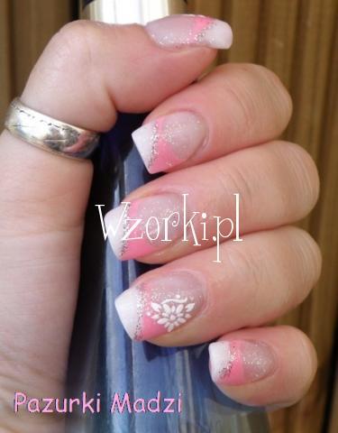 Różowo-biały frenchyk