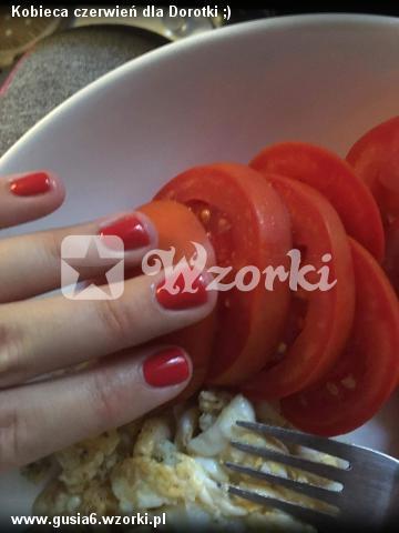 Kobieca czerwień dla Dorotki ;)