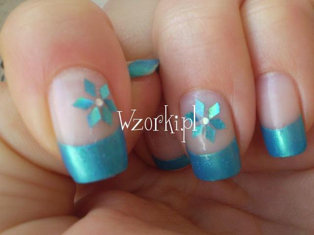 turkusowy frencz + kwiatuszki :)